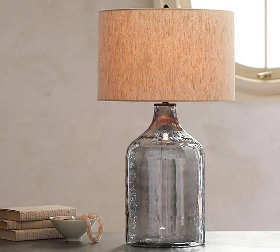 Alana Luster Glass Jug Table Lamp Base – Indigo | Pottery Barn With Regard To Glass Jug Lights Fixtures (View 4 of 15)