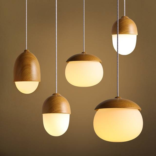 Aliexpress : Buy 1 Pcs Glass Pendant Light Dining Room Nut Bar Intended For Nut Pendant Lights (View 8 of 15)