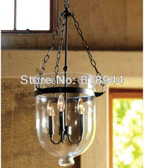 Aliexpress : Buy American Country Glass Pendant Lamp For Throughout Wrought Iron Lights Fittings (#2 of 15)