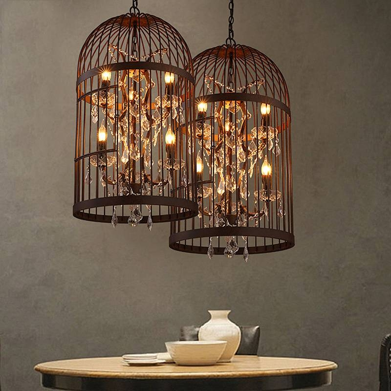 Aliexpress : Buy American Country Old Vintage Crystal Throughout Birdcage Lights Fixtures (#3 of 15)