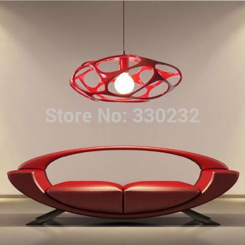 Aliexpress : Buy Dia 45Cm Italy Modern Resin Pendant Lights Pertaining To Modern Red Pendant Lighting (#4 of 15)
