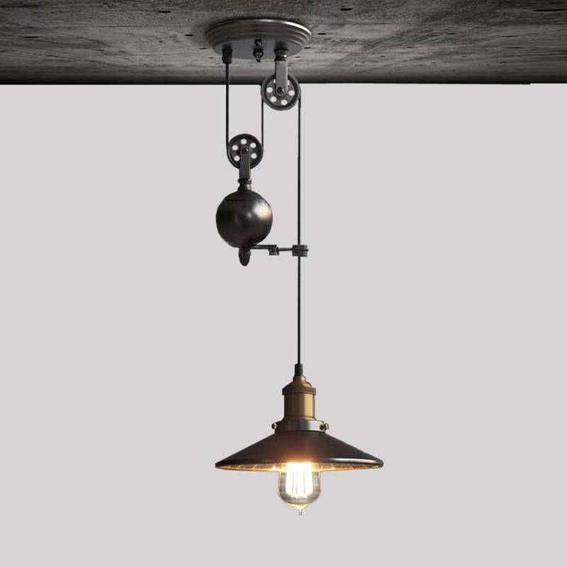 Aliexpress : Buy Diy Led Pendant Lamps Kitchen Retro Pendant In Pulley Pendant Lights (#5 of 15)