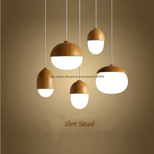 Aliexpress : Buy Free Shipping Modern Nordic Style Metal Acorn Within Nut Pendant Lights (View 4 of 15)