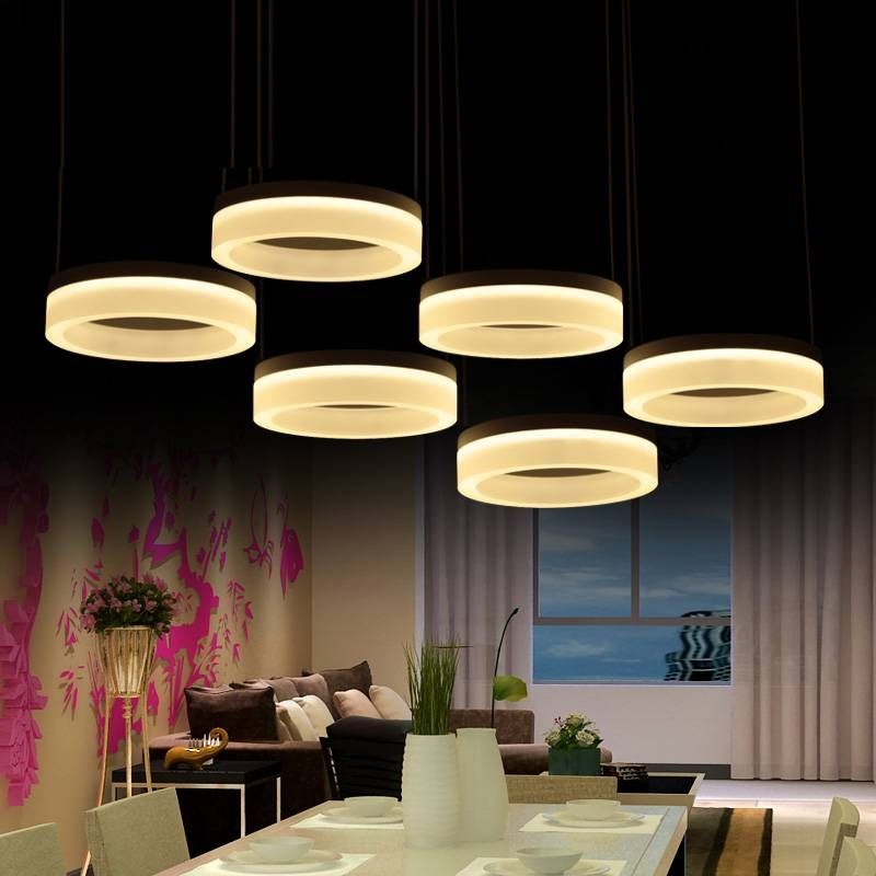 Aliexpress : Buy Home Office Led Ring Pendant Lights Post Inside Commercial Pendant Lights (View 14 of 15)