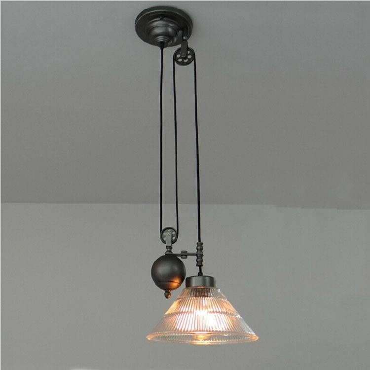 Aliexpress : Buy Kitchen Rise & Fall Pulley Pendant Lights Throughout Pulley Lights Fixture (#2 of 15)