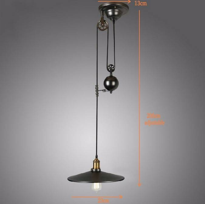 Aliexpress : Buy Loft Vintage Pendant Lights Iron Pulley Lamp With Regard To Pulley Lights Fixture (#3 of 15)