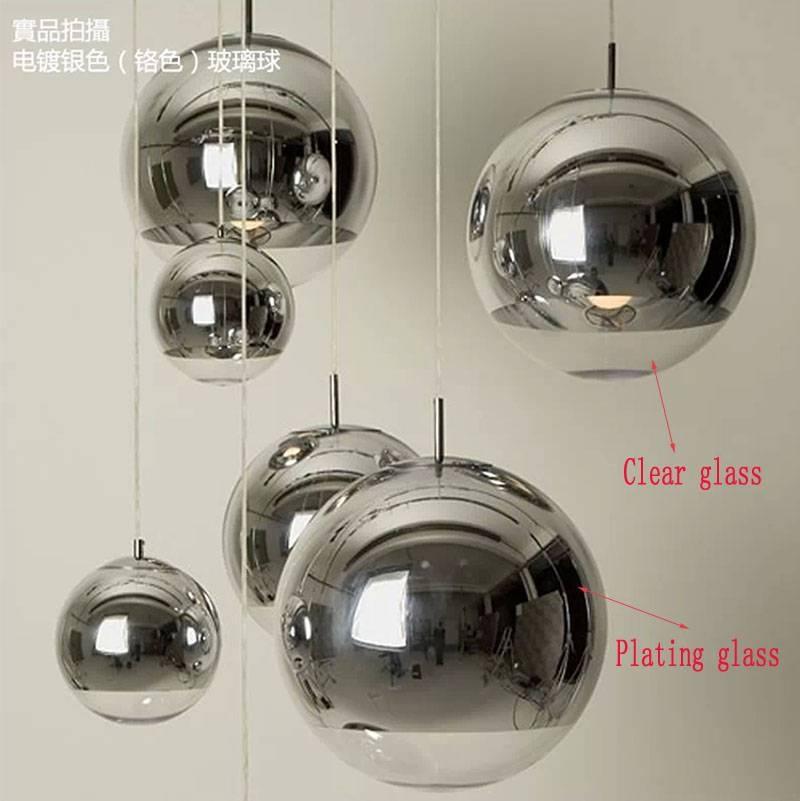 Aliexpress : Buy Modern Chrome Mirror Ball Pendant Lights Pertaining To Disco Ball Pendant Lights (#3 of 15)