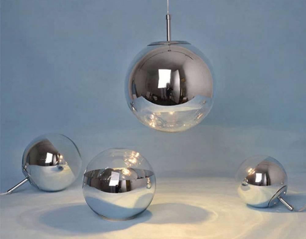 Aliexpress : Buy Modern Chrome Mirror Ball Pendant Lights Regarding Disco Ball Pendant Lights (#4 of 15)