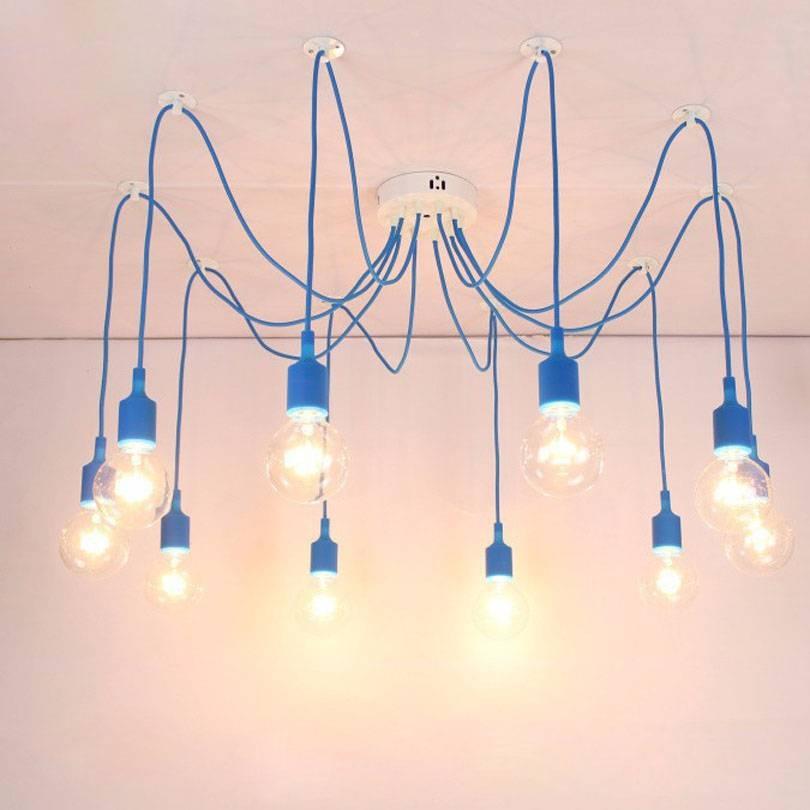 Aliexpress : Buy Modern Pendant Lights 13 Colors Diy Lighting Throughout Diy Multi Pendant Lights (#2 of 15)