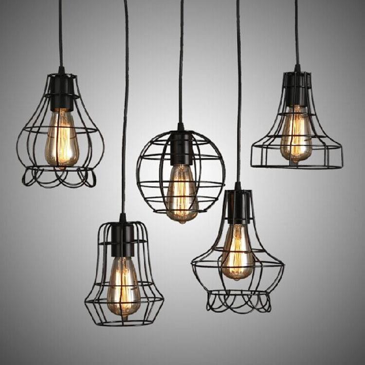 Aliexpress : Buy Modern Wrought Iron Bird Cage Pendant Light Throughout Birdcage Pendant Lights (#2 of 15)