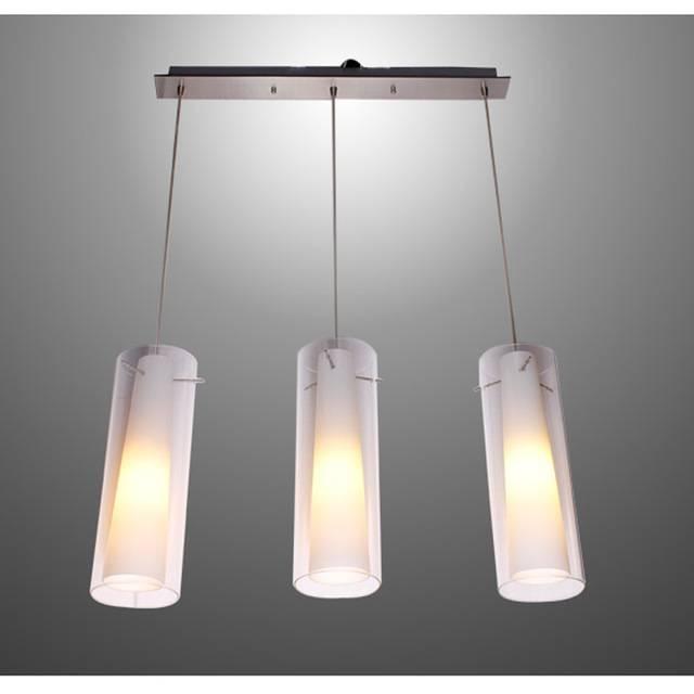 Aliexpress : Buy New Modern Glass Kitchen Bar Pendant Lamp 3 Within 3 Lights Pendant Fitter (View 9 of 15)