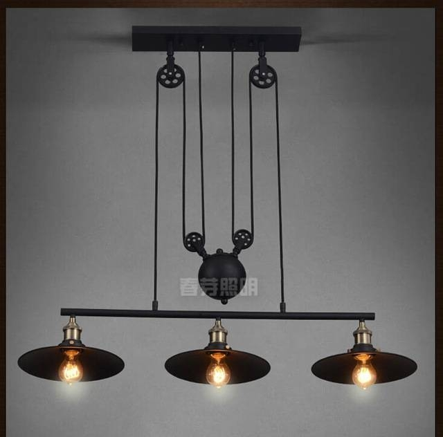 Aliexpress : Buy Nordic Industrial Pendant Lamp Lights Rh Loft Intended For Pulley Lights Fixture (#4 of 15)