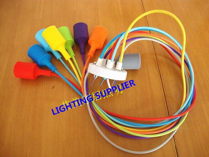 Aliexpress : Buy Silicone Colorful Pendant Lights Diy Multi Within Diy Multi Pendant Lights (#3 of 15)