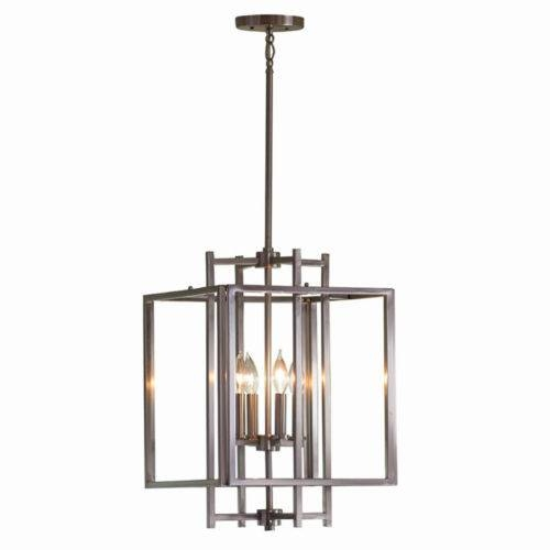 Allen Roth 14 In W Brushed Nickel Pendant Light With Shade B10015 In Allen Roth Pendant Lights (View 13 of 15)