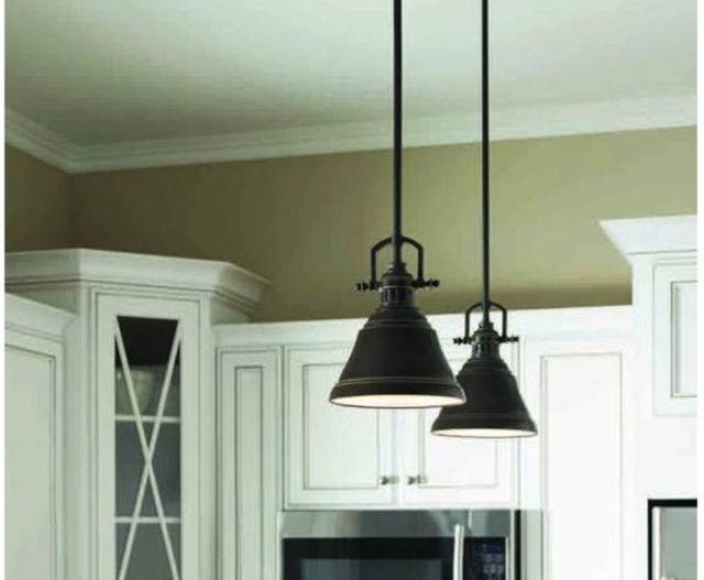 Allen Roth 8 In W Bronze Mini Pendant Light With Metal Shade Within Allen And Roth Pendant Lights (#6 of 15)