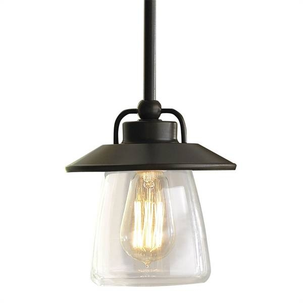 Allen + Roth Bristow Mini Pendant Light With Clear Shade | Lowe's Throughout Allen And Roth Pendant Lighting (View 10 of 15)