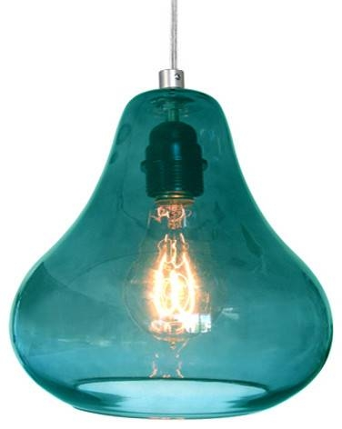 Popular Photo of Aqua Glass Pendant Lights