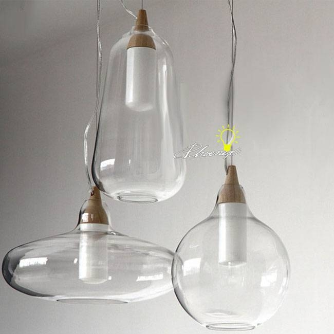 Alluring Clear Glass Pendant Lights Amazing Interior Decor Pendant Intended For Glass Pendant Lights Fittings (#2 of 15)