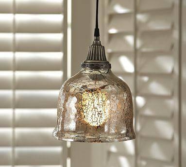 Popular Photo of Serena Antique Mercury Glass Pendants