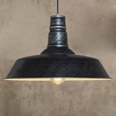 Antique Silver 10'' Wide Barn Pendant Light In Industrial Style Regarding Barn Pendant Light Fixtures (#2 of 15)