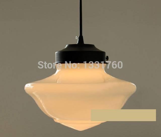 Art Deco Suspension Lamp Dinning Room Vintage Milk Glass Pendant Within Milk Glass Pendant Lights (View 9 of 15)