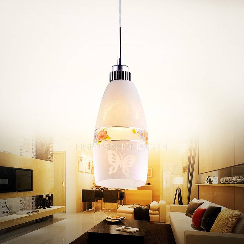 Art Glass Mini Pendant Lights Cylinder Shade For Kitchen Inside Art Glass Mini Pendant Lighting (View 3 of 15)