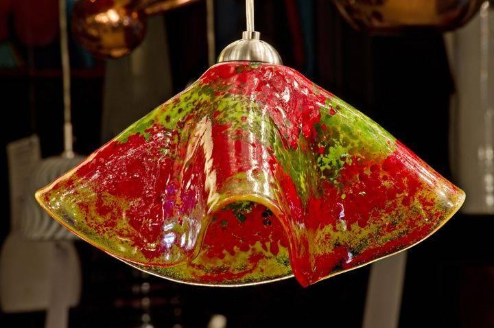 Art Glass Pendant Lights – Helen Rudy Glass Within Art Glass Pendant Lights Shades (View 10 of 15)