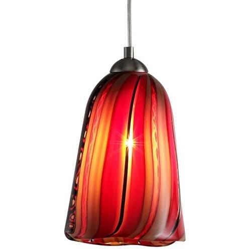 Art Glass Satin Nickel Mini Pendant Lights | Destination Lighting Throughout Murano Glass Lights Pendants (#1 of 15)