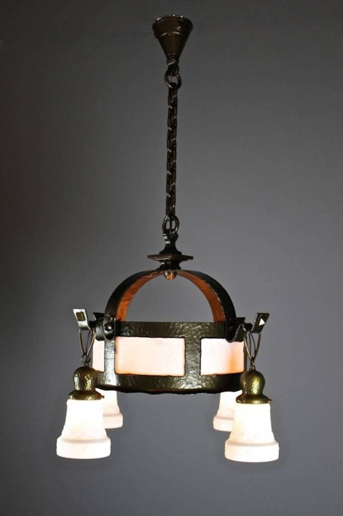 Arts & Crafts Hand Hammered Fixture (4 Light) | Inside Arts And Crafts Pendant Lighting (View 4 of 15)