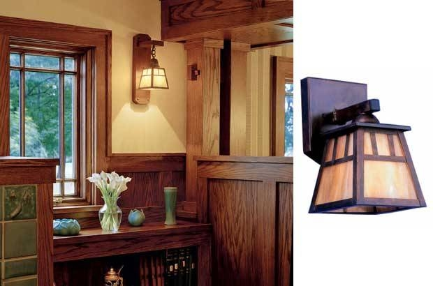 Arts & Crafts Lighting Used In Bungalow Makeover | Blog Inside Arts And Crafts Lights (#2 of 15)