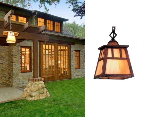 Arts & Crafts Lighting Used In Bungalow Makeover | Blog Regarding Arts And Crafts Lights (View 15 of 15)