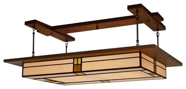 Arts & Crafts Style, Prairie Light Fixture Vintage #909 For Arts And Crafts Lights (#4 of 15)