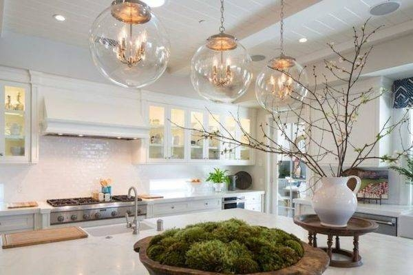 15 best collection of single pendant lighting for kitchen Large Pendant Light Dining Room Frosted Pendant Large Light
