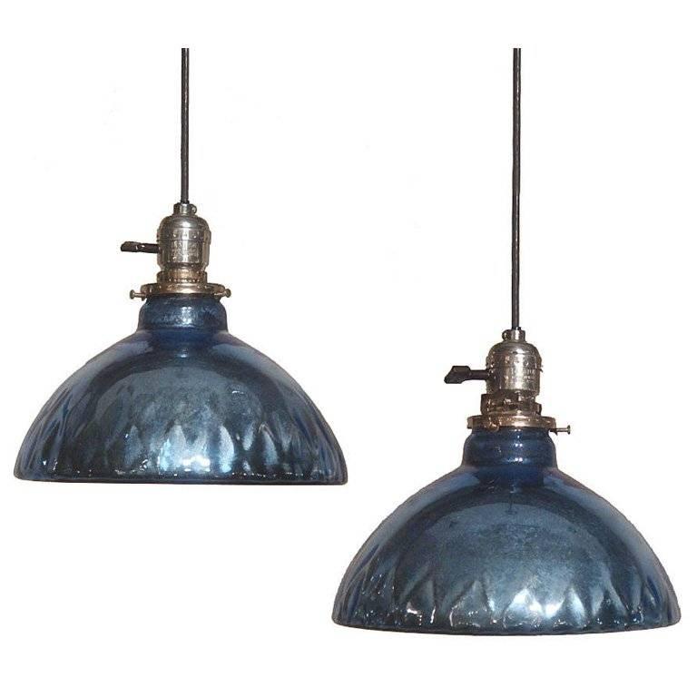 Attractive Blue Glass Pendant Light The Cobalt Blue Store Cobalt Throughout Blue Mercury Glass Pendant Lights (View 14 of 15)