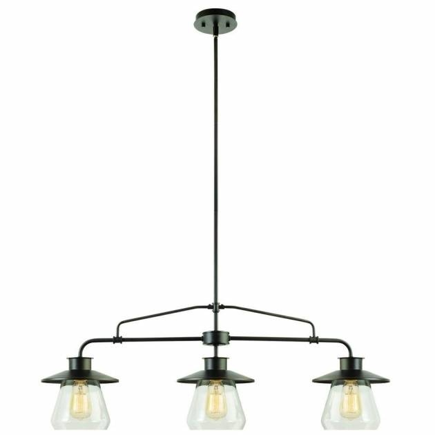 Awesome Globe Electric 3 Light Oil Rubbed Bronze And Glass Vintage With Regard To 3 Pendant Light Kits (#5 of 15)