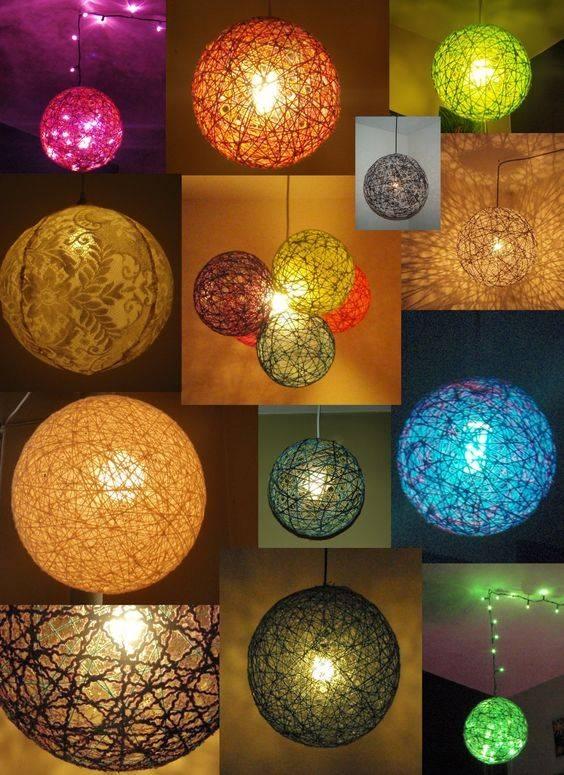 15 Ideas Of Diy Yarn Lights