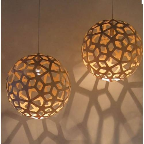Bamboo Suspension Lightdavid Trubridge Throughout Coral Pendant Lights Replica (#5 of 15)