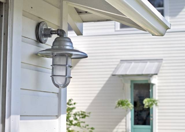 Barn Light Atomic Cast Guard Cgu Sconce – Tropical – Exterior With Galvanized Barn Lights (#1 of 15)