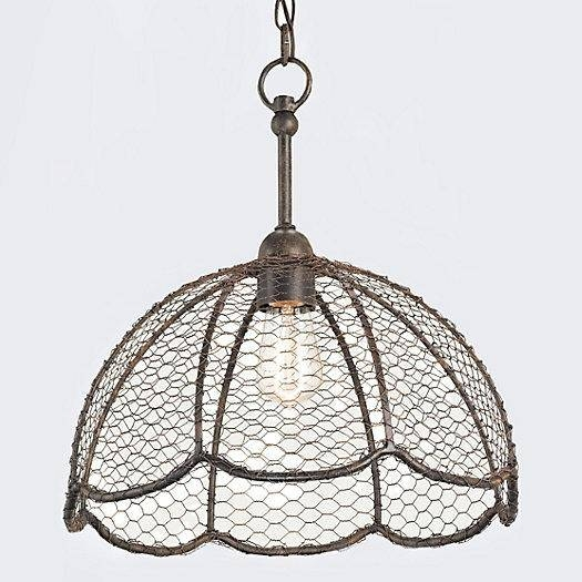 Basket Lamp Intended For Chicken Wire Pendant Lights (#3 of 15)