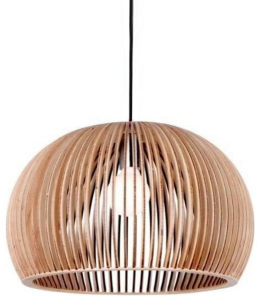 Bentwood Bowl Ceiling Pendant Lighting For Indoor Decor In Bent Wood Pendant Lights (#3 of 15)