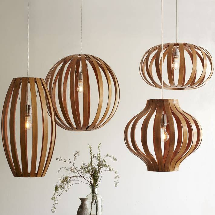 Bentwood Pendants | West Elm With Wood Veneer Pendant Lights (View 4 of 15)