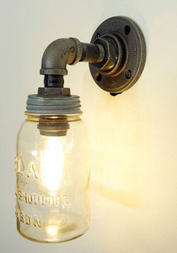 Best 10+ Mason Jar Sconce Ideas On Pinterest | Mason Jar Bathroom Within Mason Jar Pendant Lights For Sale (#1 of 15)