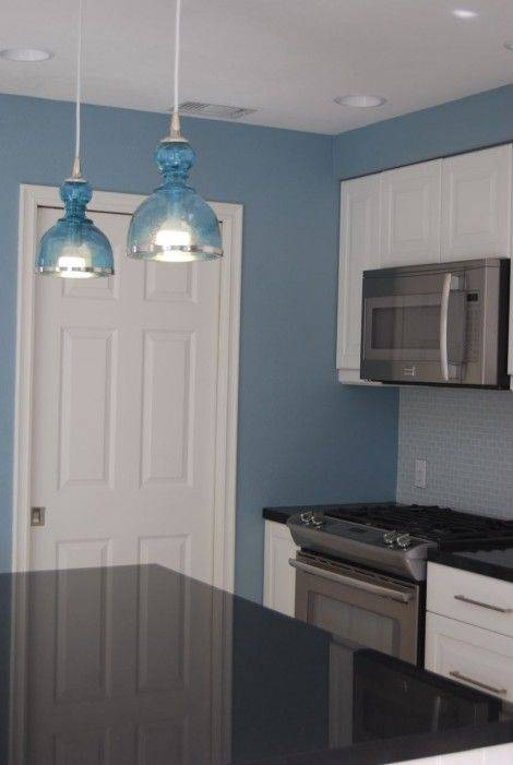 15 Ideas Of Blue Pendant Lights For Kitchen