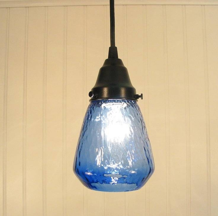 Best 20+ Blue Pendant Light Ideas On Pinterest | Blue Light Bar With Regard To Blue Pendant Lights Fixtures (#3 of 15)