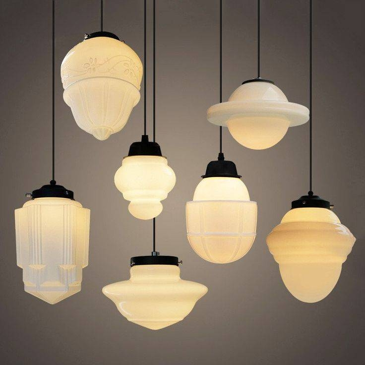 Popular Photo of Milk Glass Australia Pendant Lights