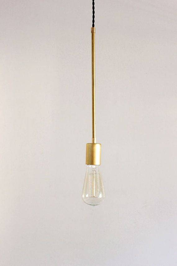 Best 25+ Brass Pendant Light Ideas On Pinterest | Brass Pendant Throughout Etsy Lighting Pendants (#10 of 15)
