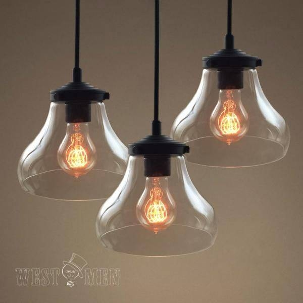 Best 25+ Clear Glass Pendant Light Ideas On Pinterest | Glass Regarding Glass Bell Shaped Pendant Light (#8 of 15)