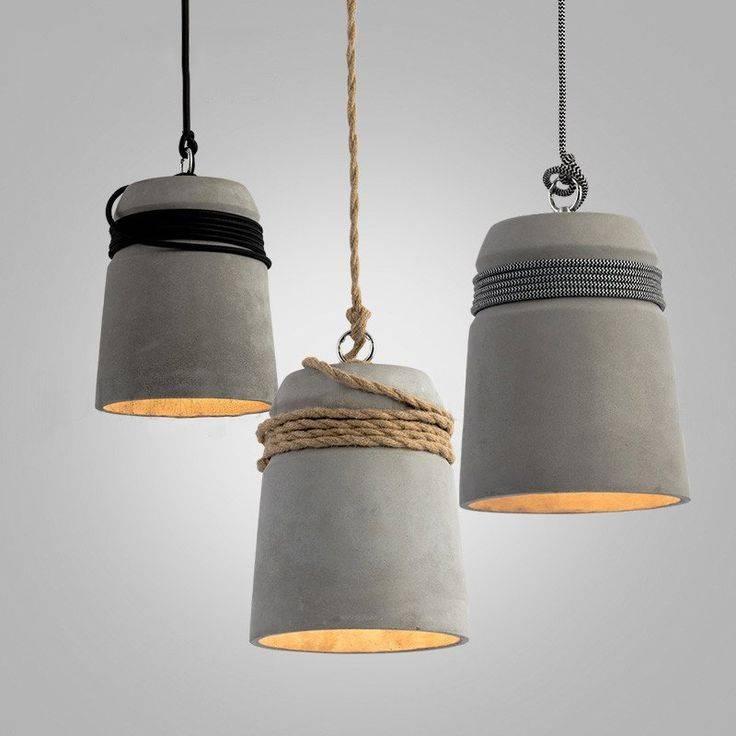 Best 25+ Concrete Lamp Ideas On Pinterest   Concrete Design For Diy Concrete Pendant Lights (#2 of 15)