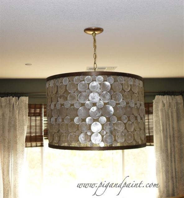 Best 25+ Diy Drum Shade Ideas On Pinterest | Light Fixture Covers For Shell Lights Shades Pendants (View 10 of 15)
