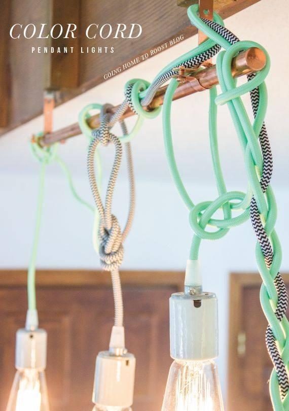 Best 25+ Diy Pendant Light Ideas Only On Pinterest | Hanging Intended For Coloured Cord Pendant Lights (#10 of 15)